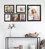 Clixicle Brown Synthetic Wood & Acrylic 30 x 1 x 18 Inch Wall Decor 6-piece Collage Photo Frame