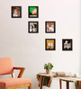 Clixicle Brown Synthetic Wood Collage Photo Frame-Set of 6