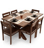 Clovis-Barcelona Six Seater Dining Set in Provincial Teak Finish by The ArmChair