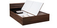 Cocoa Queen Bed with Box Storage in Black & Dark Acacia Matt Finish by Debono