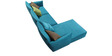 Contemporary LHS Sofa with Down Cushions by Afydecor