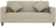 Cooper Three Seater Sofa in Beige Colour by ARRA
