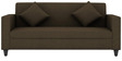 Cooper Three Seater Sofa in Brown Colour by ARRA