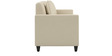 Cooper Three Seater Sofa in White Colour by ARRA