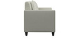 Cooper Two Seater Sofa in Pearl White Colour by ARRA