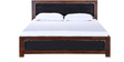 Coram Queen Size Bed in Provincial Teak Finish by Woodsworth