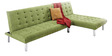 Corner Sofa Cum Bed in Green Colour by Furny