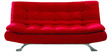 Cosy SuperSoft Sofa Bed - Red by Furny