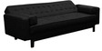 Cosy supersoft Sofa bed  with Armrest in Black  colour by Furny