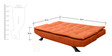 Cosy SuperSoft Sofa Bed in Orange Colour by Furny