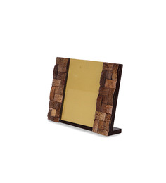Cocktail Brown Wood 6.75 x 10 Inch Coco Big Single Photo Frame