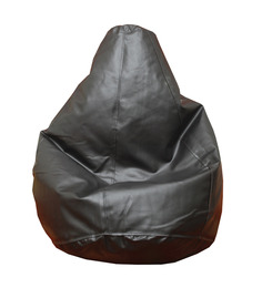Comfy Black L Bean Bag