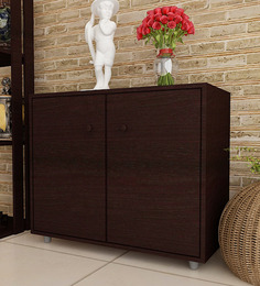 Compartment Shoe Cabinet In Wenge Finish By Exclusive Furniture