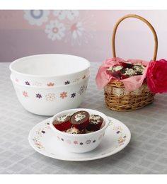 Corelle Livingware Floral Fantasy Small Plate - 6 Pieces