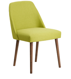 Corfinio Arm Chair (Set of 2) in Green Color & Cocoa Legs by CasaCraft
