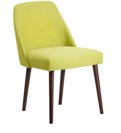 Corfinio Arm Chair (Set of 2) in Green Colour & Cappucino Legs by CasaCraft