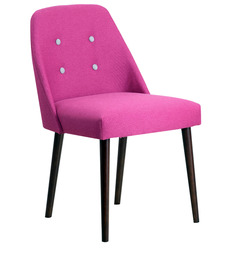 Corfinio Chair in Pink Color with Buttons by CasaCraft (Set of 2)