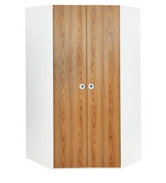 Country Corner Wardrobe in Oak and White Colour by Alex Daisy