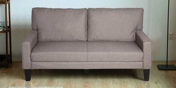 Comfort Three Seater Sofa In Brown Colour By @Home