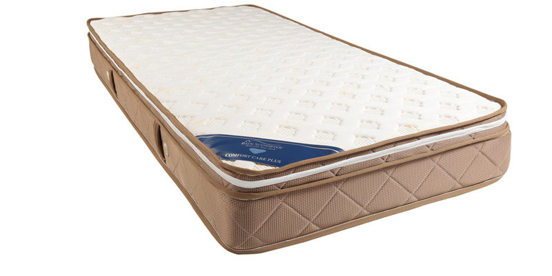 Comfort Care Plus Euro Top 8 Inch Thick Single-Size Pocket Spring Foam Encased Mattress by Spring Air