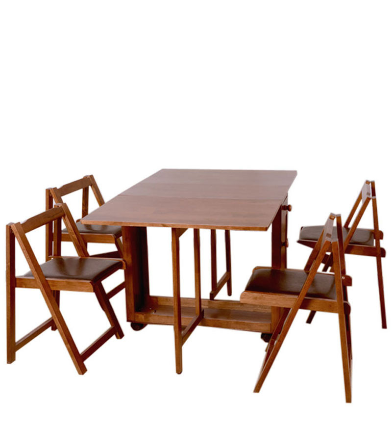 Buy Compact Four Seater Folding Dining Set by HomeTown  : compact four seater folding dining table by hometown compact four seater folding dining table by hom 3g4kee from www.pepperfry.com size 800 x 880 jpeg 75kB