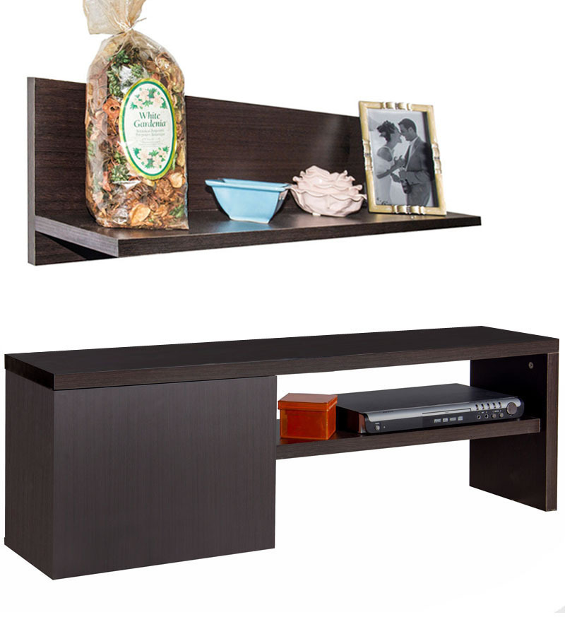 Cove Low Height LCD Unit with Wall Shelf  by StyleSpa  available at Pepperfry for Rs.8393