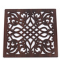 Cocktail Aria Brown Wooden Trivet - Set of 4
