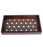 Cocktail Brown Wooden Small Serving Tray