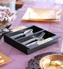 Cocktail Wooden Spoon & Fork Cutlery Holder