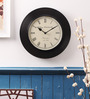 Cocovey Black Wooden Wall Clock