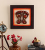 Cocovey Canvas 10 x 2 x 10 Inch Textured Handmade Framed Rajasthani Style Phad Painting