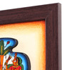 Cocovey Canvas 10 x 2 x 10 Inch Textured Paglya Art Framed Rajasthani Style Phad Painting