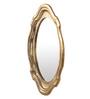 Cocovey Gold Aluminium Oval Decorative Wall Mirror
