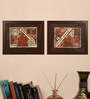 Cocovey Wooden 32 x 2 x 24 Inch Handmade Rajasthani Phad Collage Framed Painting