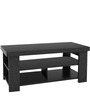 Coffee Table with Thick top and Tri-open Shelves by AfyDecor