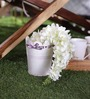 Color Palette White and Purple Vintage Planter