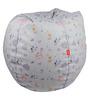Colour Fairies Digital Printed Filled Bean Bag in Multicolour by Orka