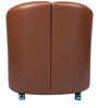 Comforting Brown One Seater Sofa by Ventura