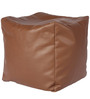 Comfy Cubic Bean Filled Pouffe in Brown Finish by Godrej Interio