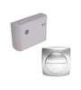 Commander White PVC Cistern Flush Tank with Silver Plate