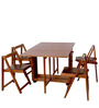Compact Four Seater Folding Dining Set by HomeTown