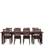 Contemporary Ladder Back Eight Seater Dining Set by Afydecor