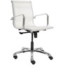 Contemporary Manager Chair in White Colour by FabChair