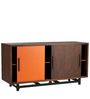 Contemporary Sideboard with Clean Chic Design in Walnut Finish by Afydecor