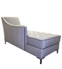 Contemporary Two Seater Elegant Chaise in Grey Color by Afydecor