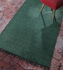 Contrast Living Green Cotton 72 x 48 Inch Hand Woven Nikunj Dhurrie