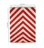 Contrast Living Multicolour Cotton 117 x 78 Inch Stripe Shuttle Area Rug