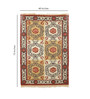 Contrast Living Multicolour Jute 48 x 72 Inch Hand-Woven & Printed Dhurrie