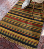Contrast Living Multicolour Jute 60 x 84 Inch Printed Dhurrie