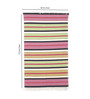 Contrast Living Multicolour Jute 72 x 48 Inch Hand-Woven & Printed Dhurrie